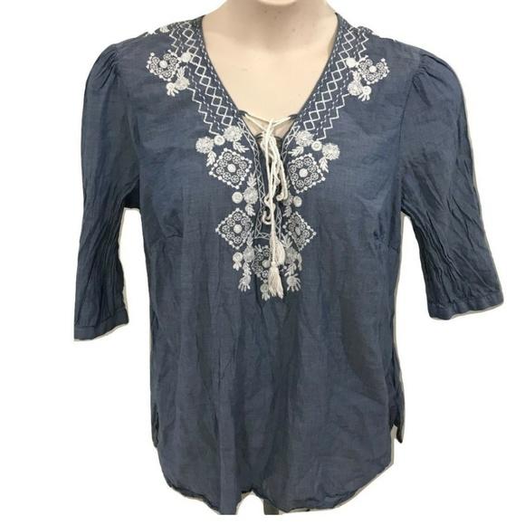 464adfb7adf0c Dress Barn Tops - Dress Barn 1X Tunic Top Blue Boho Casual Plus Size